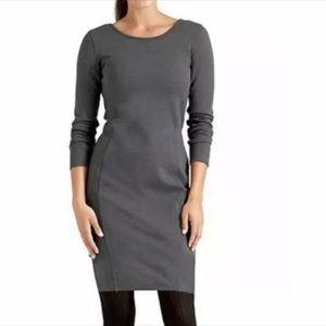 Athleta Illusion Long Sleeve Dress Grey Size XL